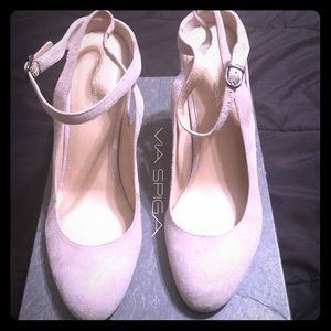 NEW!!  VIA SPIGA V-FONDA Wedge Shoes